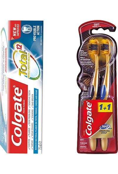 Colgate Diş Macunu 75 ml & Colgate 360 Gold Diş Fırçası Yumuşak 1+1