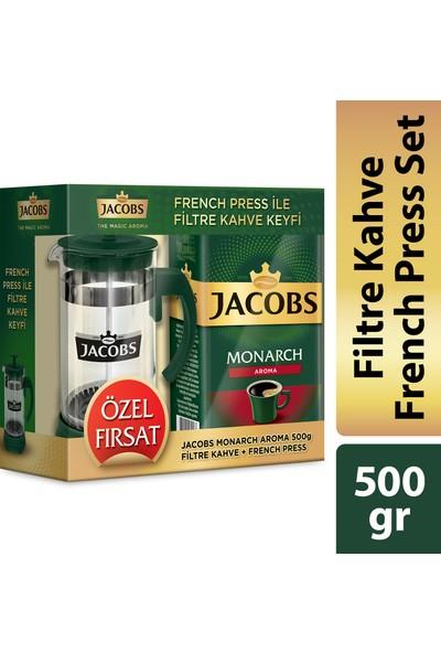 Jacobs Monarch Aroma Filtre Kahve 500gr + Frechpress