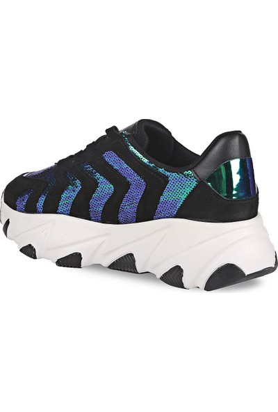 Crash Kadın Sneaker 14-612 Siyah Multi 39