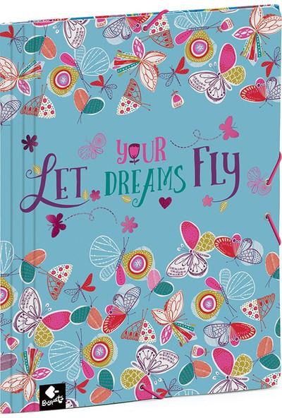 Busquets 51068092300 Let Dreams Fly Yumuşak Kapak Lastikli Dosya