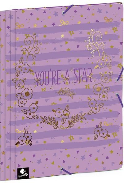Busquets 51068092500 You're A Star Yumuşak Kapak Lastikli Dosya
