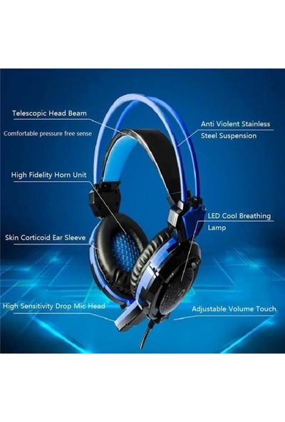 Jinmai X8S USB Oyuncu Mikrofonlu Kulaklık - Mavi