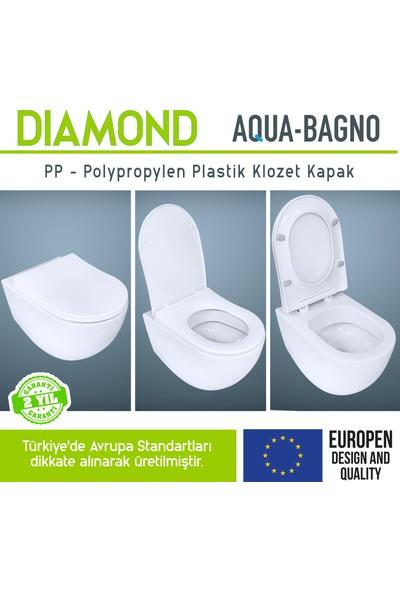 Aqua Bagno Dıomand Yavaş Kapanan Klozet Kapağı
