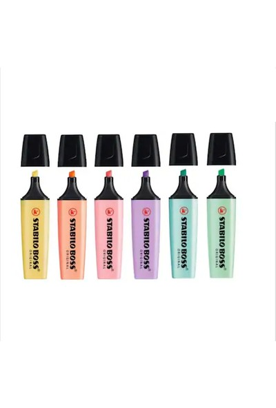 Stabilo Boss Original Pastel Renkler Set 6'lı
