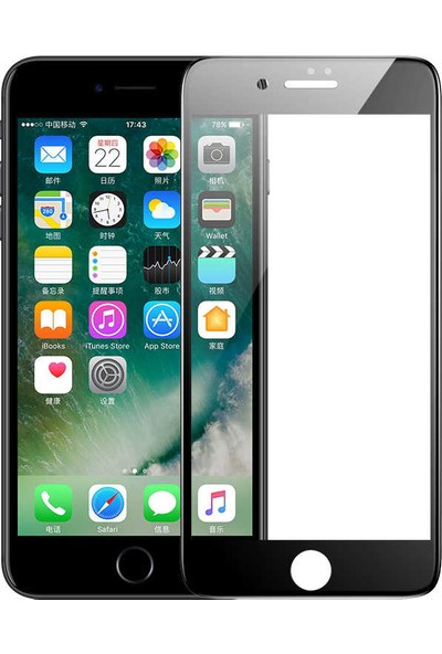 Benks Apple iPhone 8 V Pro Screen Protector Ekran Koruyucu Siyah