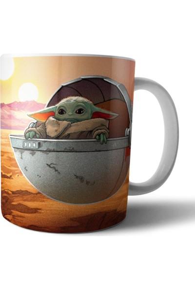 Pixxa Baby Yoda / The Mandalorian / Star Wars Kupa Bardak Model 18