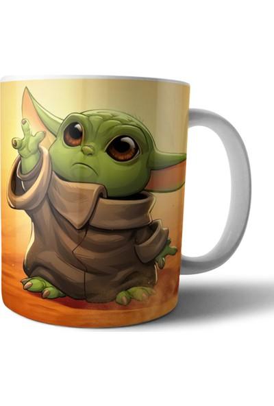 Pixxa Baby Yoda / The Mandalorian / Star Wars Kupa Bardak Model 19