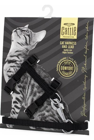 Cattie Dokumadan El Yapımı Kedi Göğüs & Gezdirme Takımı