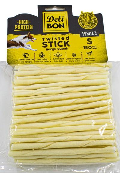 Delibon Burgu Çubuk İnce Boy 150'li Paket Beyaz