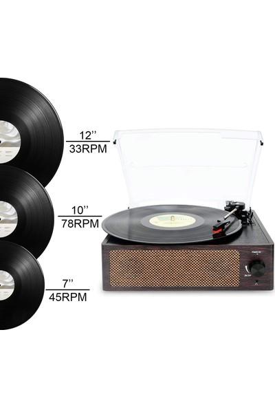Record Master T218 Bluetooth Özellikli Pikap - Kahverengi