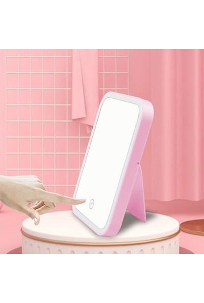 Pst Makyaj Aynası Gece Lambası LED Işıklı Şarjlı Dokunmatik