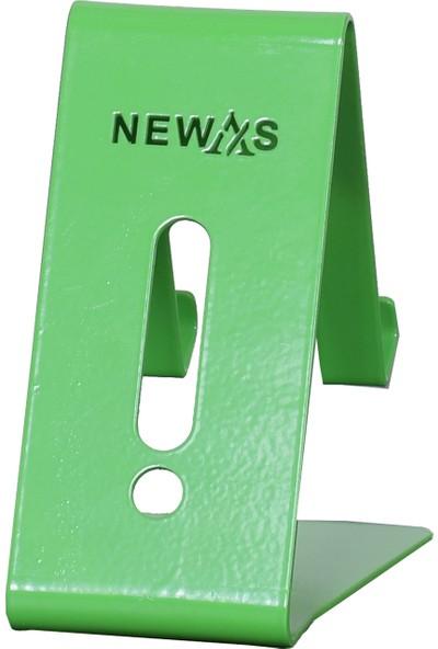 Newas Masaüstü Metal Telefon Tutucu ve Şarj Standı - Yeşil