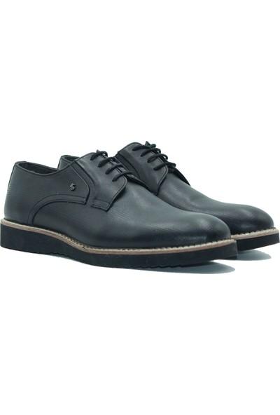 Kemoda Erkek Deri Günlük Ayakkabı 14 Siyah