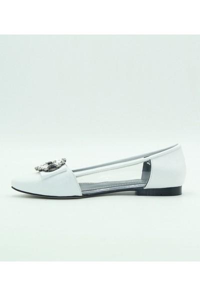 Park Moda Kadın Babet 281-386 Beyaz