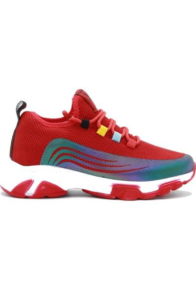 Park Moda Kadın Sneakers Ayakkabı 11-2020 Kırmızı