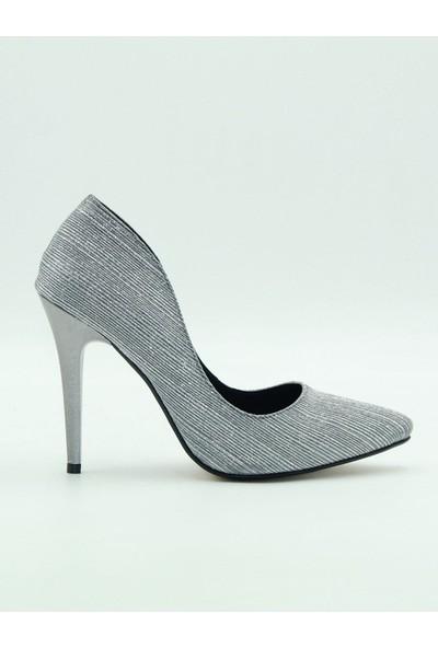 Park Moda Kadın Topuklu Ayakkabı 309-500 Platin