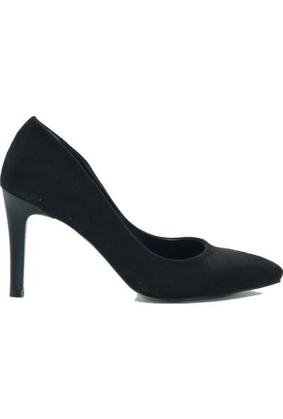 Park Moda Kadın Topuklu Ayakkabı 346-620 Siyah.Süet