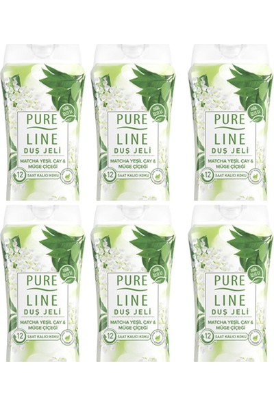 Pure Line Matcha Yeşilçay & Müge Çiçeği Duş Jeli 400 ml 6 Adet