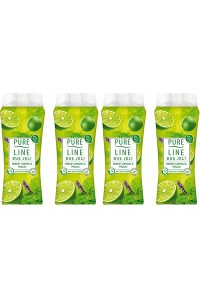 Pure Line Misket Limonu & Paçuli Duş Jeli 400 ml 4 Adet