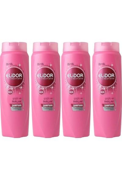 Elidor Güçlü ve Parlak Saç Bakım Şampuanı 650 ml X4 Adet