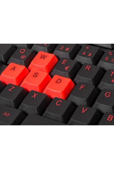 Everest KM-6825 Siyah USB Kırmızı Tuşlu Klavye + Mouse + Bloody Oyuncu Mouse Pad Set