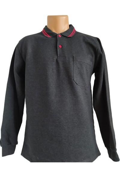 DDK Polo Yaka Sweatshirt Füme L