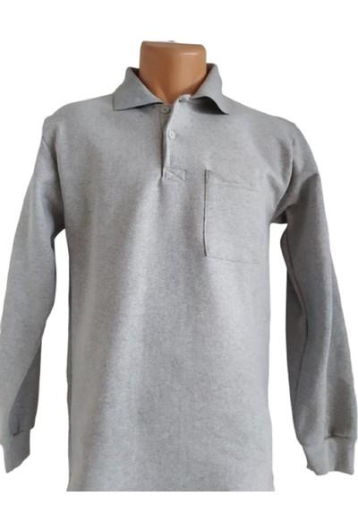 DDK Polo Yaka Sweatshirt Gri L
