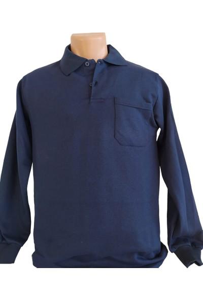 DDK Polo Yaka Sweatshirt Lacivert L
