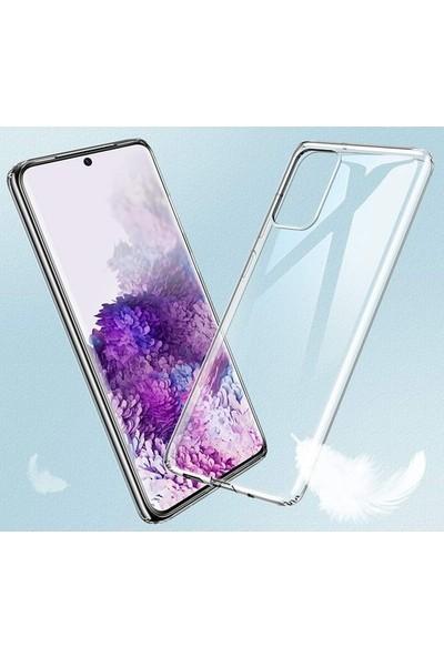 Coverzone Samsung Galaxy S20 Ultra Kılıf Süper Şeffaf Silikon Arka Kapak Şeffaf