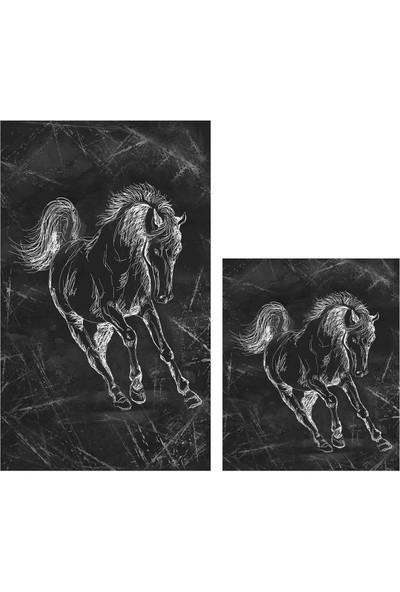 Soley Horse Djt 2'li Banyo Paspas Seti Klozet Takımı 0478 01