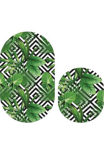 Soley Havai Djt 2'li Oval Banyo Paspas Seti Klozet Takımı 0570 01