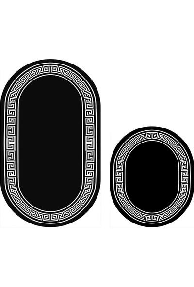 Soley Topkapı Djt 2'li Oval Banyo Paspas Seti Klozet Takımı 0676 01