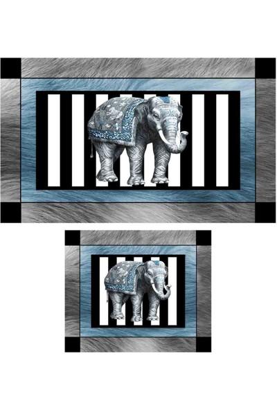 Soley Zambiya Djt 2'li Dekoratif Banyo Paspas