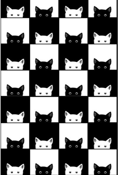 Soley Black-White Djt 40 x 60 cm Banyo Paspası 0400 01