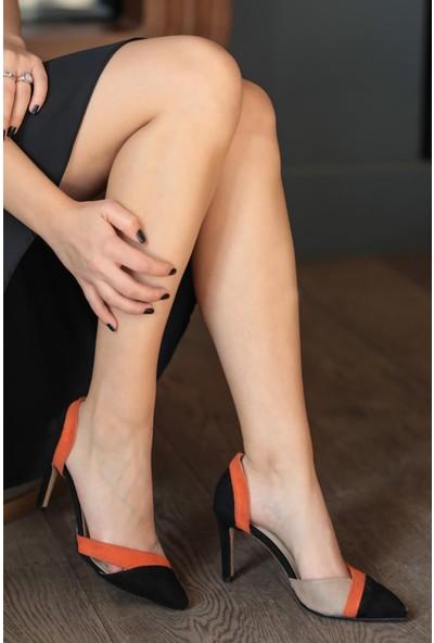 Mio Gusto Anita Siyah Bloklu Topuklu Ayakkabı