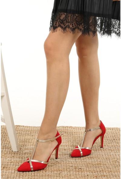 Mio Gusto Gina Kırmızı Topuklu Ayakkabı