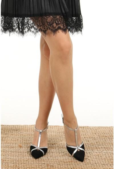 Mio Gusto Gina Siyah Topuklu Ayakkabı
