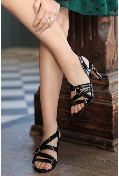 Mio Gusto Hakiki Deri Amanda Kısa Topuklu Ayakkabı