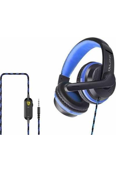 Ovleng P6 Mikrofonlu Kulaklık Mavi