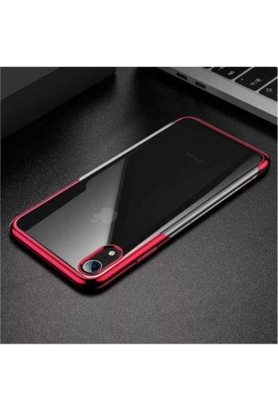 Baseus Shınıng Iphone Xr Ince Yumuşak Silikon Kılıf Kenar Renkli - Kırmızı