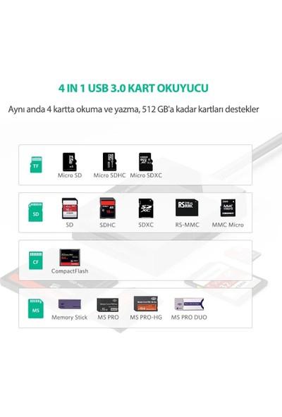 Ugreen USB 3.0 4'ü 1 Arada Kart Okuyucu