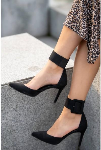 Mio Gusto Olimpia Siyah Topuklu Ayakkabı