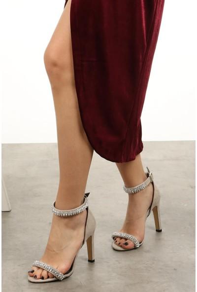 Mio Gusto Paris Bej Abiye Ayakkabı