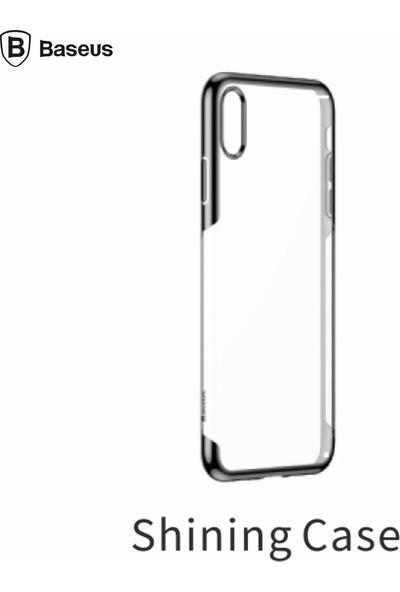 Baseus iPHONE X- Xs Shınıng Yumuşak Silikon Kılıf - Siyah