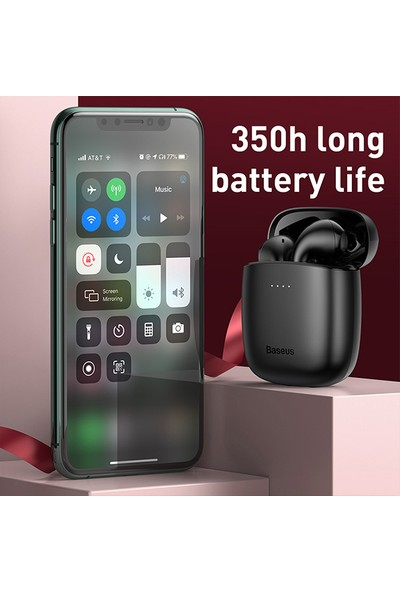 Baseus NGW04-01 Encok W04 Tws Kablosuz Bluetooth 5.0 Kulaklık Siyah