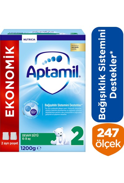 Aptamil 2 Akıllı Kutu Devam Sütü 1200 gr 6-9 Ay