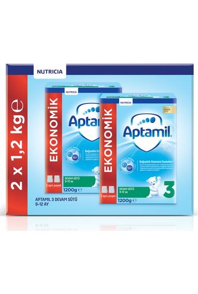 Aptamil 3 1200 gr Mega Size 2'li Paket Devam Sütü 9-12 Ay