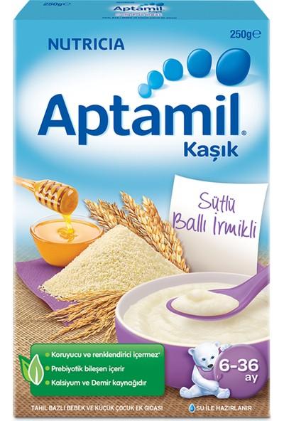 Aptamil Sütlü Ballı İrmikli Tahıl Bazlı Kaşık Maması 250 g 6-36 Ay