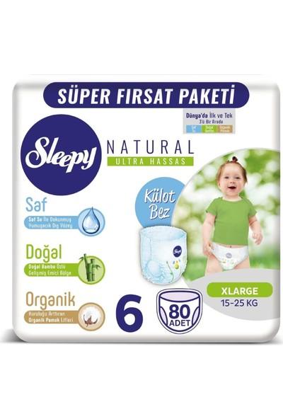 Sleepy Natural Mega Paket 6 Beden Külot Bez 80 Adet