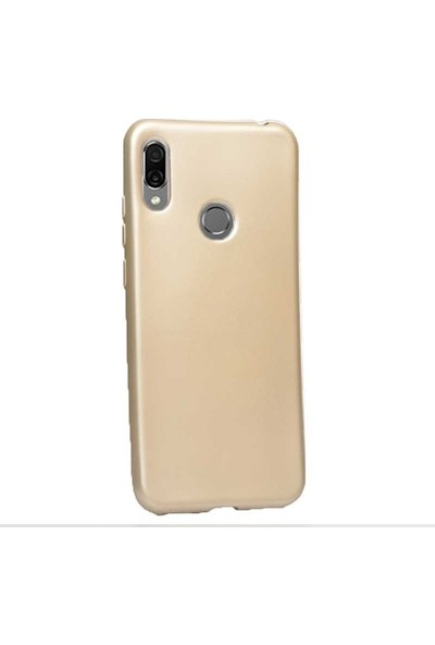 Herdem Huawei Honor 8A Kılıf Ultra Lüx Soft Mat Silikon Gold